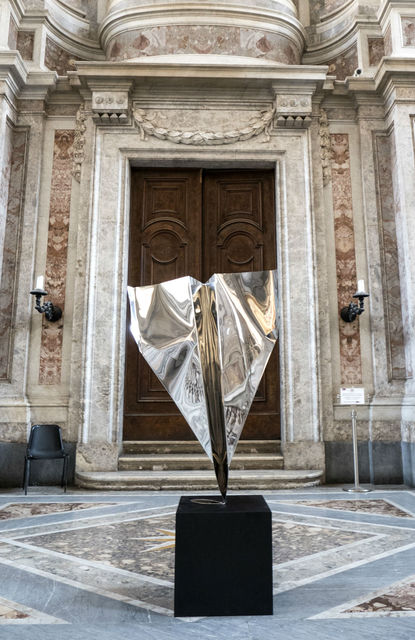 Daniele Sigalot, 'Clearly Not a Paper Plane ', 2019, Sculpture, Stainless Steel, Contessa Gallery