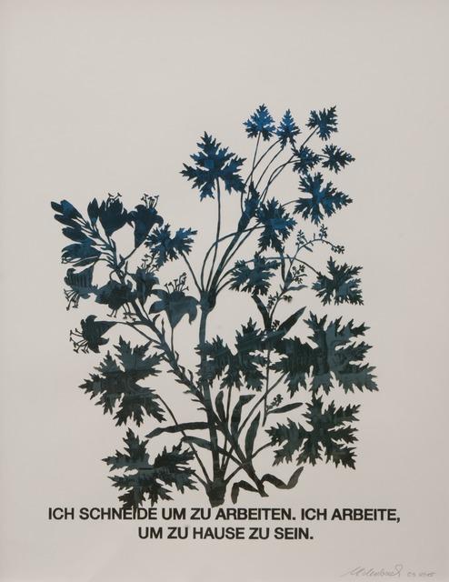 , 'Blattstaude mit Feuerlilie (blau),' 2015, Galerie Crone