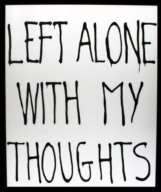 , 'Left alone with my thoughts,' 2018, Galerie ALB