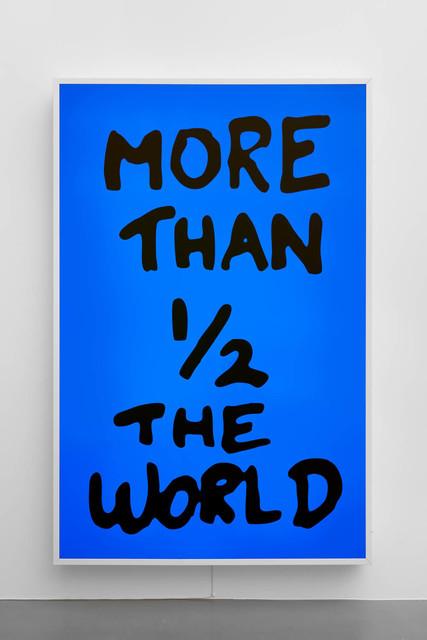 Sam Durant, 'More Than 1/2 The World', 2017, Sadie Coles HQ