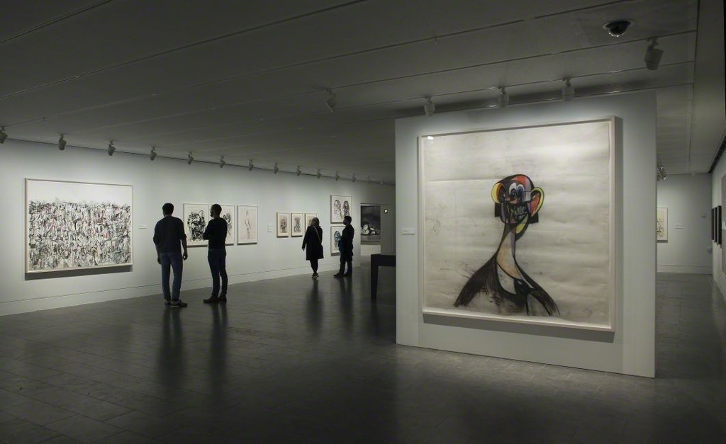 Louisiana on Paper. George Condo: The Way I Think. Drawings 1974-2015 09.11 2017 - 04.02 2018    Installation shot Credit: Louisiana Museum of Modern Art, Humlebæk, DK Photo: Anders Sune Berg