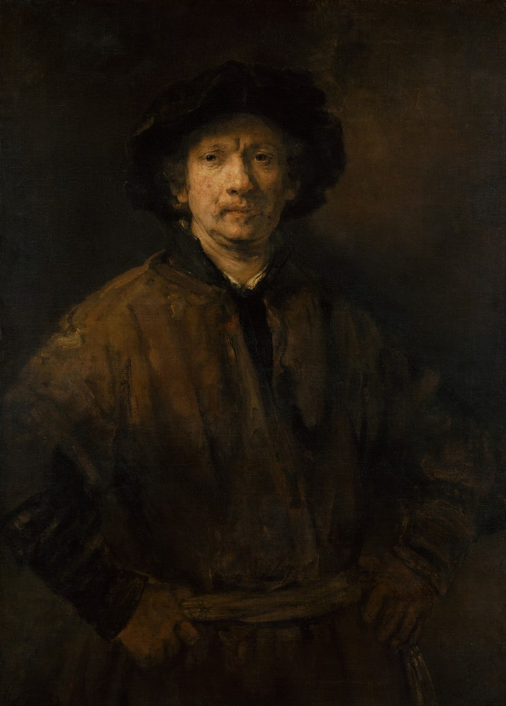 Rembrandt Harmensz. van Rijn, 'Large Self-Portrait,' 1652, Art History 101