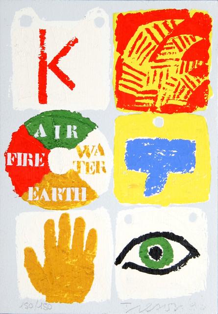 Joe Tilson, 'Fire, Air, Water, Earth', 1990, RoGallery