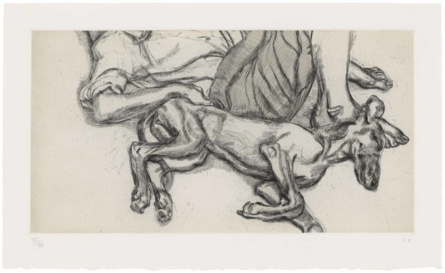 Lucian Freud, 'Pluto', 1988, Print, Etching and drypoint with watercolour on Somerset Satin White paper, Christie's