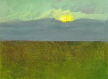 Landscape at sunset, Bornholm