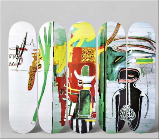 , 'Suite of Five (5) Untitled Skate Decks ,' 2017, Alpha 137 Gallery