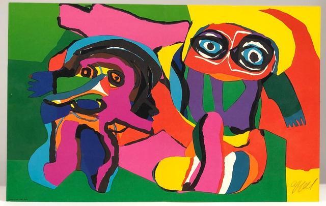 Karel Appel, 'Two Figures', ca. 1970, Print, Original silkscreen on wove paper, Samhart Gallery
