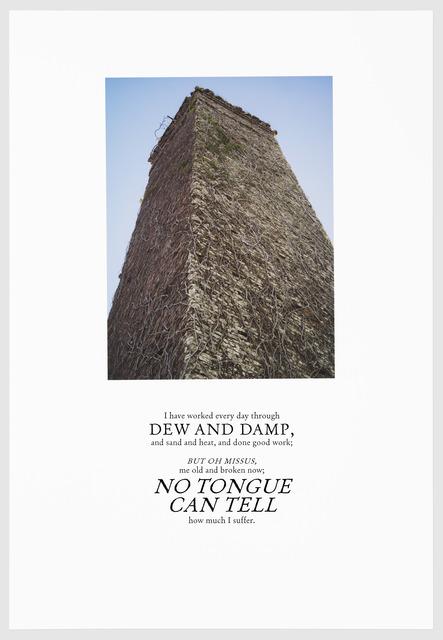 , 'DEW AND DAMP,' 2016, Arnika Dawkins Gallery
