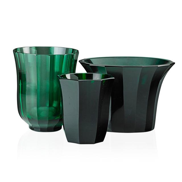 Josef Hoffmann, 'Three Faceted Vases, Bohemia', Early 20th C., Design/Decorative Art, Glass, Rago/Wright