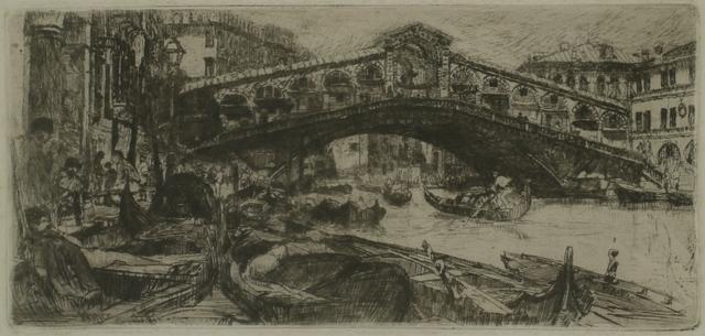 Otto Henry Bacher, 'Rialto, Venice', 1880, Private Collection, NY