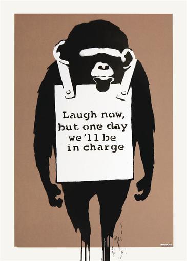 Banksy, 'Laugh Now (Signed Print)', 2004, Print, Screen print, Andipa