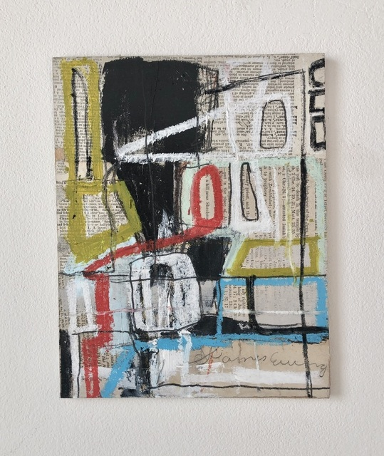 Kelton Osborn, 'Meander 2', 2020, Painting, Mixed media with collage on board, Michael Warren Contemporary