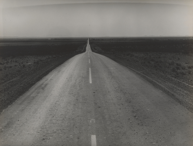 , 'The Road West, U.S. 54 in Southern New Mexico,' 1938, San Francisco Museum of Modern Art (SFMOMA)