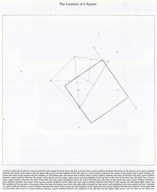 , 'The Location of a Square,' 1974, Bernard Jacobson Gallery