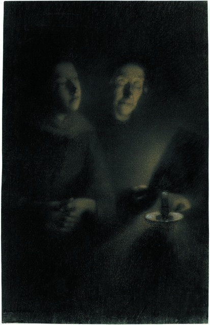, 'Portrait of the artist's wife and mother in law,' 1879, British Museum