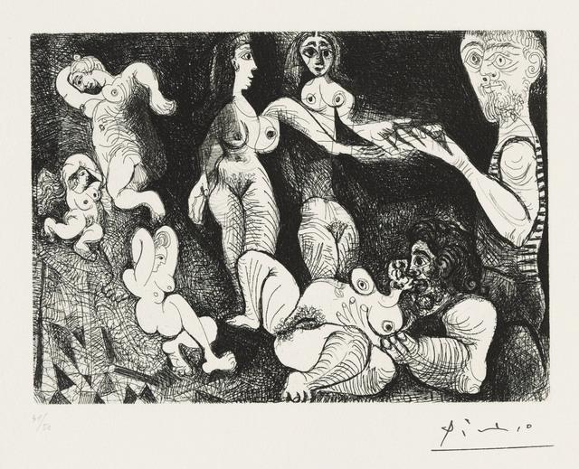 Pablo Picasso, 'Marin rêveur avec deux femmes, from: Series 156', 1970, Christie's
