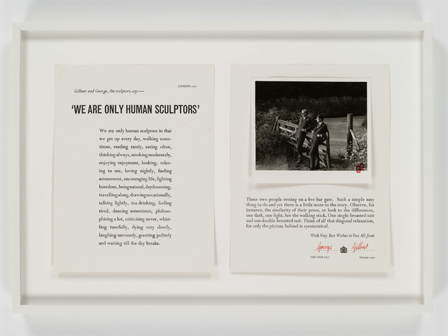 , 'Two Text Pages Describing Our Position,' 1970, Sperone Westwater
