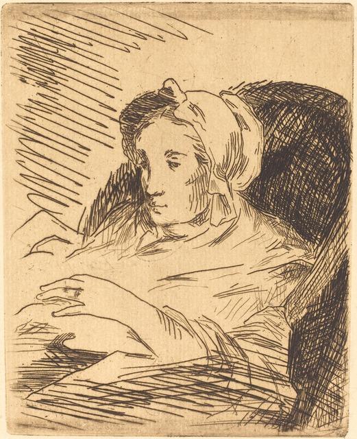 Édouard Manet, 'The Convalescent (La convalescente)', 1876/1878, National Gallery of Art, Washington, D.C.
