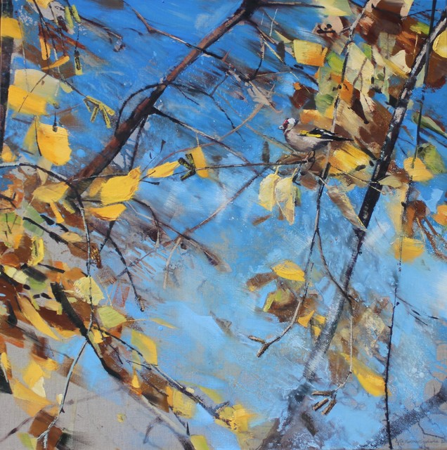 , 'Goldfinch, Betula Catkins,' 2018, Sarah Wiseman Gallery