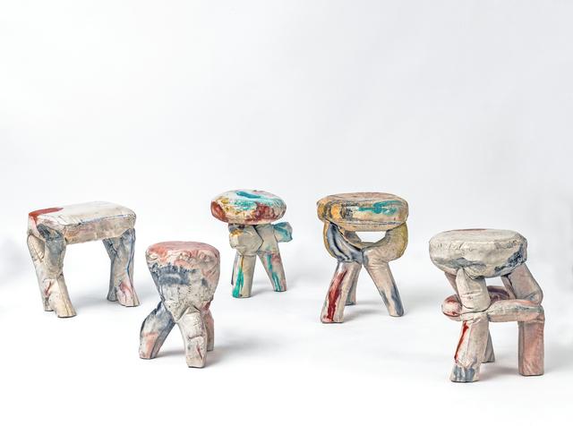 , 'Concrete stools,' 2015, Friedman Benda