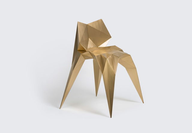 Zhoujie Zhang, 'Brass Bowtie Chair (SQN1-F2A),' 2014, Gallery ALL