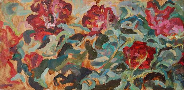 , 'Crimson flowers,' ca. 1968, Robert Eagle Fine Art
