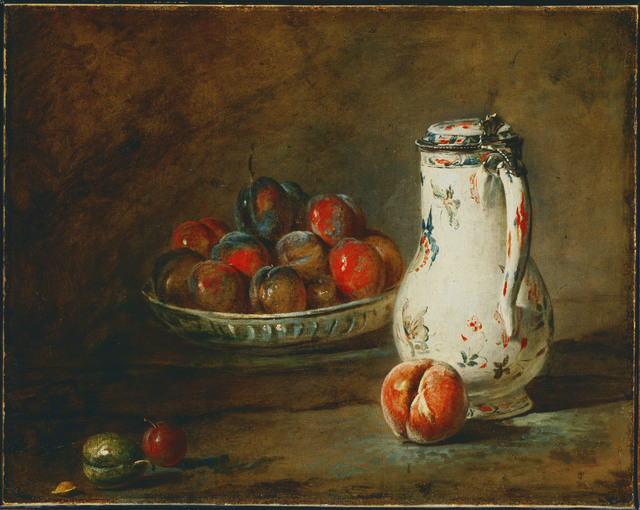 Jean-Siméon Chardin, 'A Bowl of Plums', ca. 1728, Phillips Collection