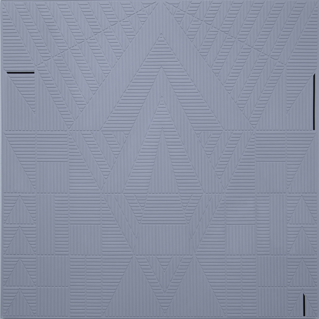 , 'Gray Geometric Motif,' 2016, : BARIL