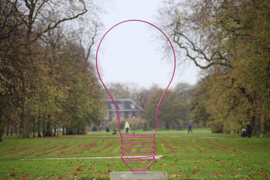 "Installation view of ""Michael Craig-Martin: Transience"" at Serpentine Gallery, London, 2015-2016. Courtesy of the artist and Gagosian Gallery."