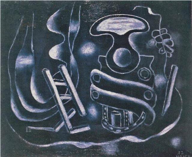 , 'Le tire-bouchon sur fond bleu,' 1932, Galleria d'Arte Maggiore G.A.M.