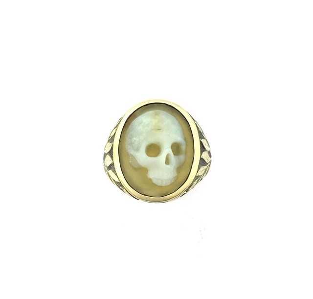 , 'Hardstone cameo skull ring III,' 2017, Southern Guild