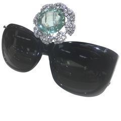 Stacy Engman, 'Stacy Engman ART ROYALTY 45ct Aqua with 4ct Diamond Sunglasses-Tiara in Platinum', 2019, ART CAPSUL