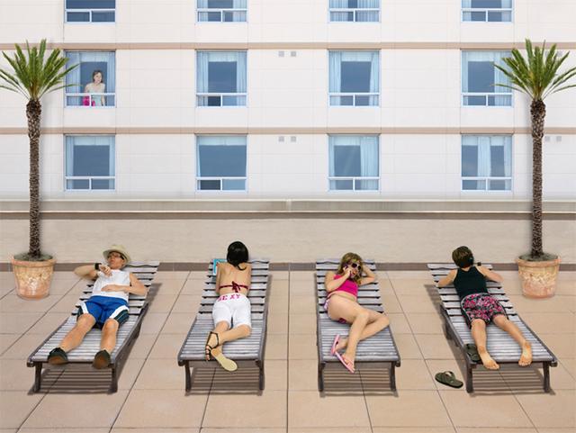 Margeaux Walter, 'Rooftop Rays', 2012, Photography, 3-D Lenticular, Winston Wächter Fine Art