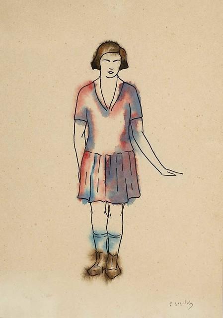 "David Kakabadze, 'Costume design for ""Chef of the station ""', 1947, Baia Gallery"
