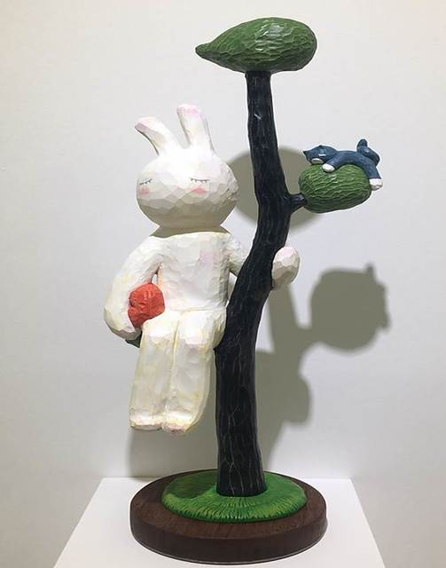 Sun Kim, 'Sitting on a branch with the red pillow ', 2018, ART MORA