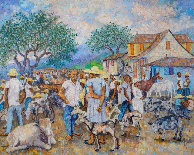 , 'Sunday at the Port,' 1988, Myriam Nader Haitian Art Gallery