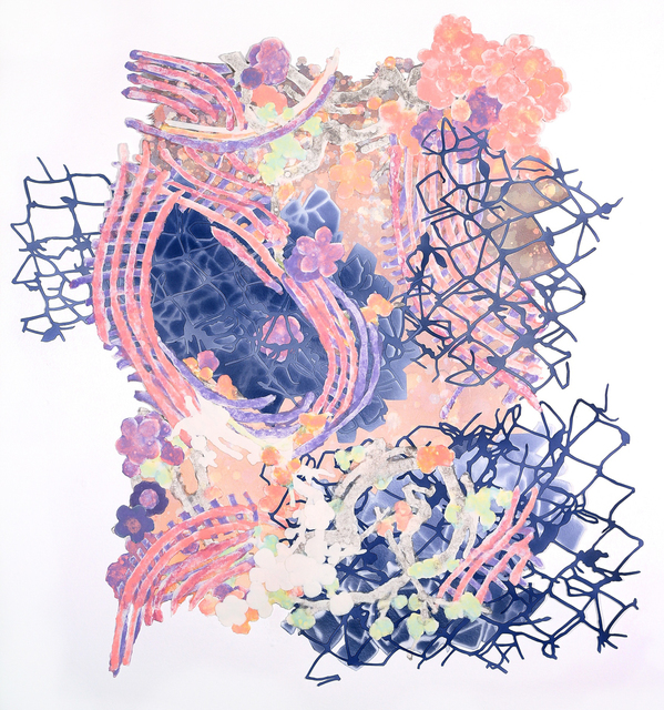 Charlene Liu, 'Comings and Goings', 2012, Drawing, Collage or other Work on Paper, Handmade paper, pigmented pulp and acrylic, Elizabeth Leach Gallery