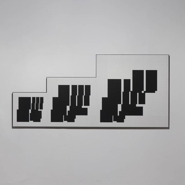 , 'drei metrische sequenzen P3-A,' 1973-76, Edition & Galerie Hoffmann