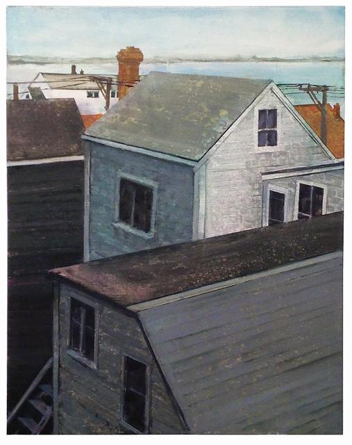 , 'Provincetown Rooftops I,' 2017, Albert Merola Gallery