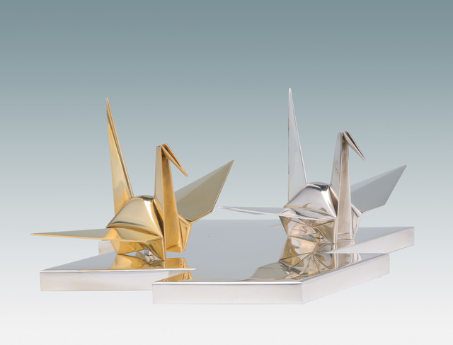 , 'Pair of Ornaments of Origami Cranes,' ca. 1930s, Seattle Art Museum