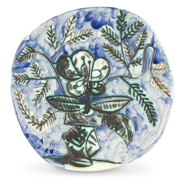 Pablo Picasso, 'VASE AU BOUQUET (A.R. 304)', 1956, Design/Decorative Art, Painted and partially glazed ceramic, Doyle