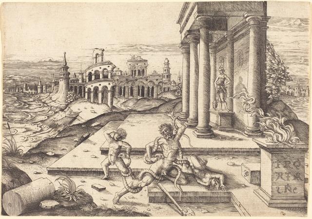 Jean de Gourmont I, 'Laocoon', Print, Engraving, National Gallery of Art, Washington, D.C.