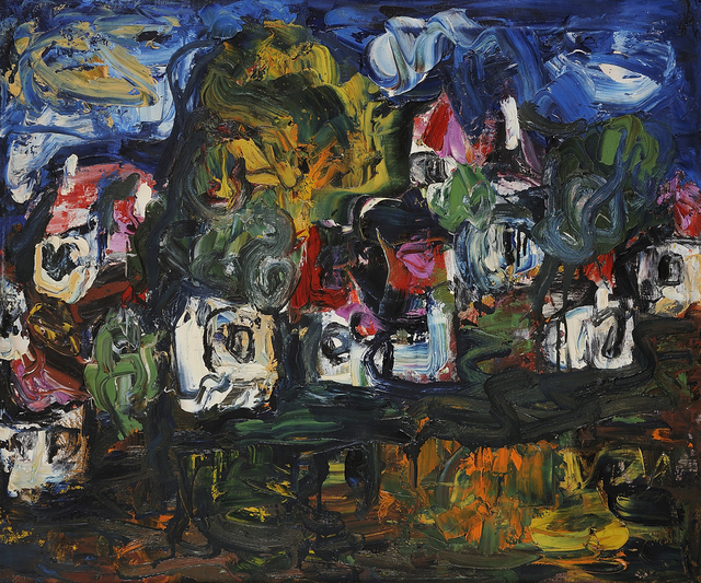 , 'Houses on Hillside,' ca. 1955-1958, Charles Nodrum Gallery
