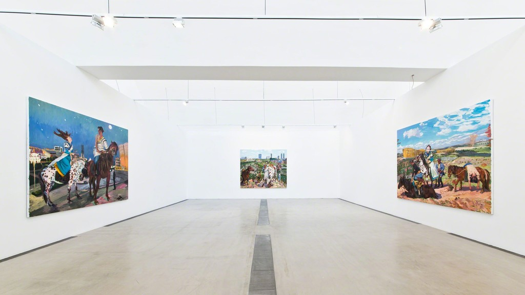 "Installation view of exhibition ""Liu Xiaodong: Diary of An Empty City"" at Faurschou Foundation, Beijing, 2015, Photo by Yu Long © Faurschou Foundation"