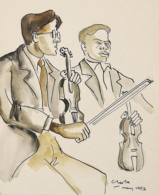 , 'Violinists,' 1952, Luvey 'n Rose