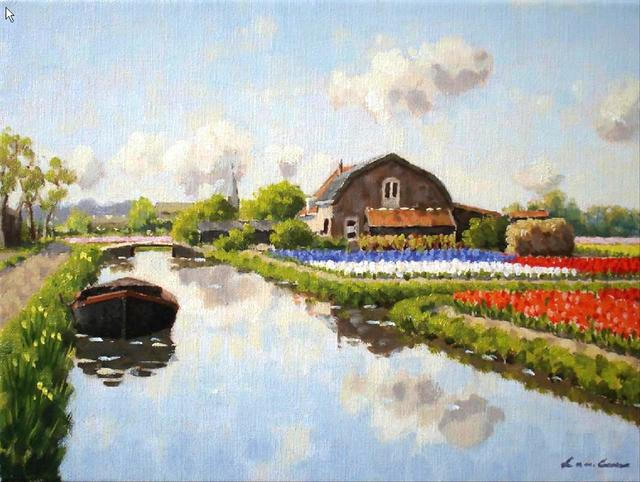 , 'Small canal in Voorhout,' , ArtBoutique
