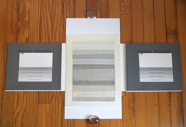 Agnes Martin, 'Suite of 10 loose lithographs on vellum, Agnes Martin Paintings and Drawings 1974-1990, Stedelijk Museum', 1991, Alternate Projects