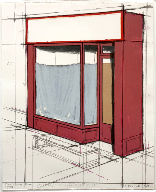 Christo, 'Pink Store Front Project', 1980, Joseph K. Levene Fine Art, Ltd.