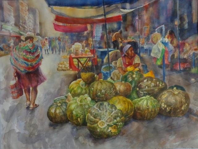 Benjamín Lafuente, 'Pumpkin seller', 2018, Casa Toscana