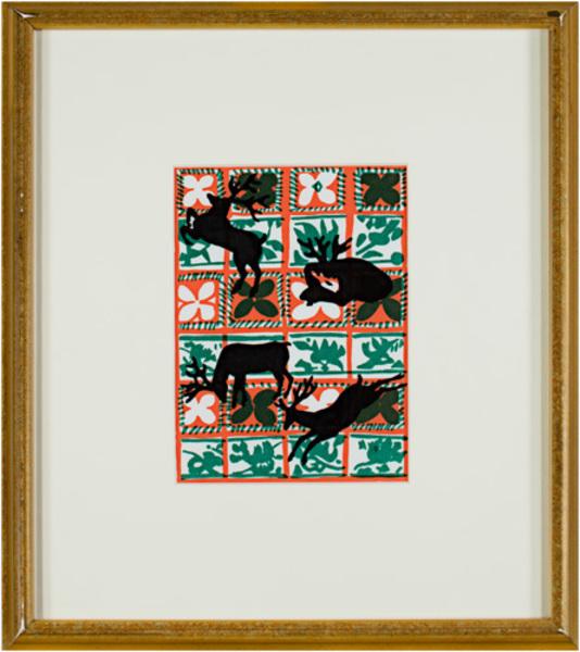 , 'Yuletide Silhouette,' 1981, David Barnett Gallery